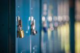 metal locker with locks - 146010507