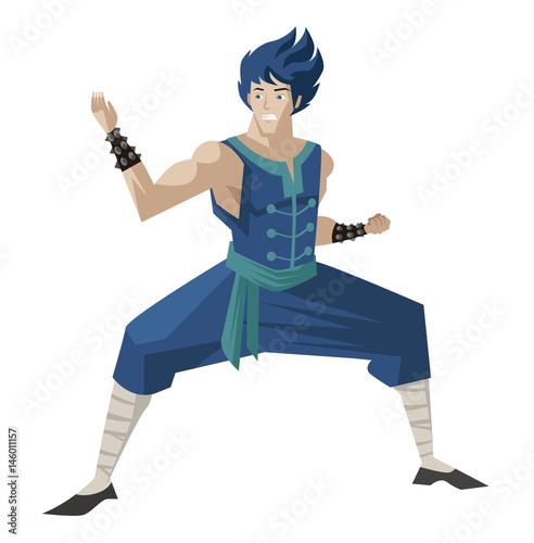 shaolin warrior anime hero - 146011157