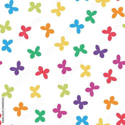 Deurstickers Geometrische dieren Colorful seamless butterflies pattern