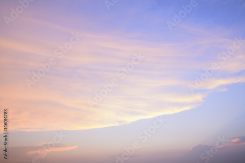 Poster Sky and clouds on sunset background.
