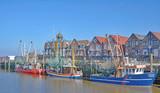Krabbenfischerhafen von Neuharlingersiel in Ostfriesland,Nordsee,Niedersachsen,Deutschland