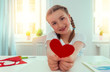 child with heart for parents