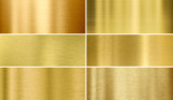 Gold or brass brushed metal textures - 146033111