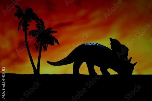 Shadow dinosaurs Poster