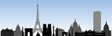 monument parisiens - Paris - tourisme - tour Eiffel - frise - site célèbre