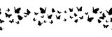 Banner nahtlos mit schwarzen Schmetterling Silhouetten - 146040974