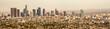 Panorama cityscape of hazy Los Angeles skyline