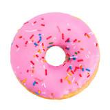 Pink donut closeup - 146053718