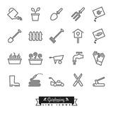 Gardening Line Icon Set - 146067536