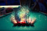 Billiard balls break...