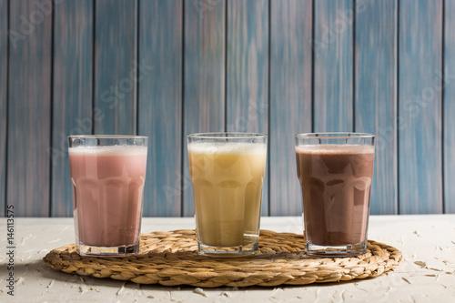 Foto op Plexiglas Milkshake Delicious Milkshakes