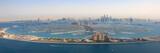 Dubaj Palm Jumeirah Palm Island Atlantis Hotel Panorama Marina Z lotu ptaka