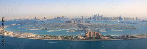 Dubai The Palm Jumeirah Palme Insel Atlantis Hotel Panorama Marina Luftaufnahme Poster