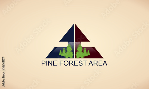 pine forest area logo - 146145177