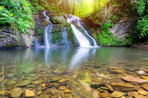 beautiful waterfall - 146157962