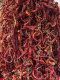 Group of hundreds dry red chili pepper
