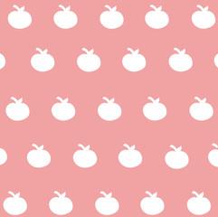 seamless pattern cute white apple