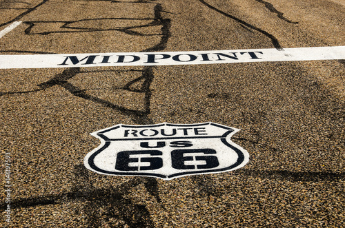 Poster Midpoint for Route 66 in Adrian, Texas