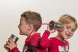 Kinder mit einem Dosentelefon - 146210928
