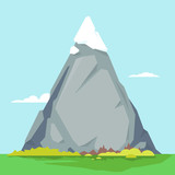 High Mountain With Sharp Peak