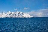 Snowy mountains of Lofotens