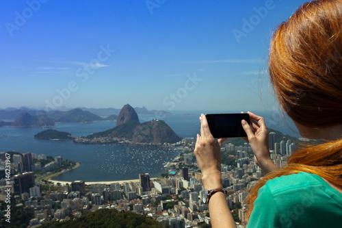 Foto op Aluminium Rio de Janeiro girl at the Rio de Janeiro