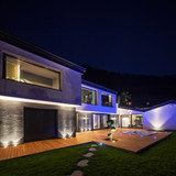 Exterior of luxurious modern villa in the night - 146249138