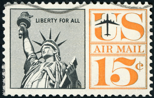 Postage stamp - US Air mail