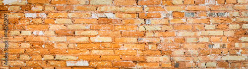Fundo de parede de tijolos.