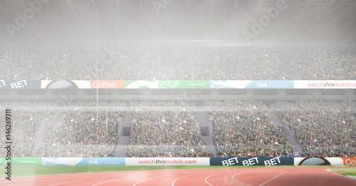 Composite image of athletics stadium