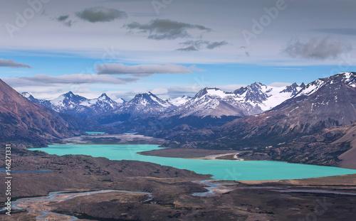 View from Mount Leon to lake Belgrano, Perito Moreno National Park, Patagonia, Argentina © sunsinger