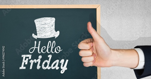 Thumbs up hello friday