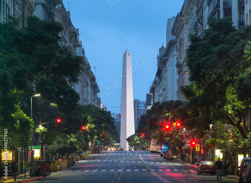 Spoed canvasdoek 2cm dik Buenos Aires Night view of the center of Buenos Aires, Argentina