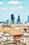 Milan city, Italy, photo filter