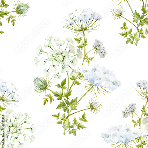 Watercolor floral pattern - 146382739