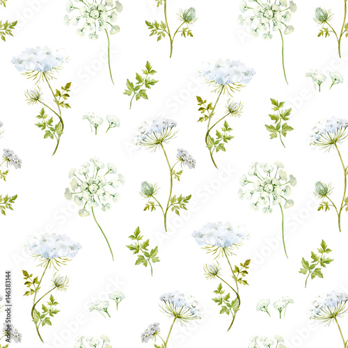 Watercolor floral pattern - 146383144