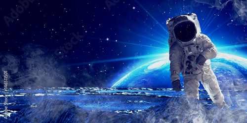 Foto op Aluminium Nasa Astronaut in outer space.