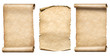 old paper scrolls or parchments realistc 3d illustration set