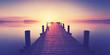 romantischer Sonnenaufgang am See, Sommer am Wasser