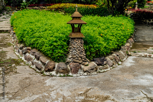 Foto op Canvas Azalea Concrete Pathway in garden