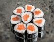 Mini roll with salmon