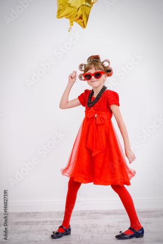 Poster little fashionable girl