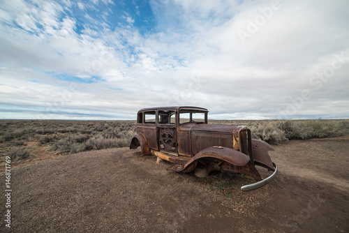 Rusty, Abandoned Car on Route 66, Petrified Forest National Park, Arizona Poster
