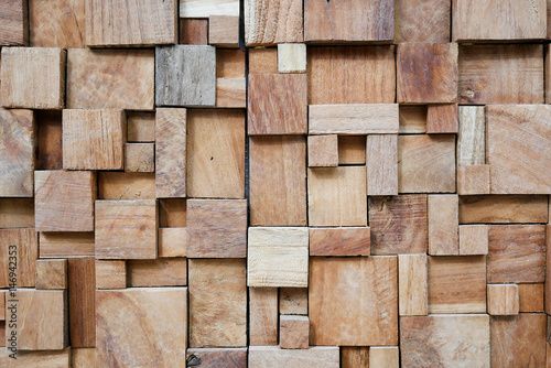 Square modern decorated wood background