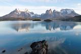 Torres del Paine Spiegelung im Lago Pehoe