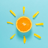 Orange slice as the sun concept - 146967780