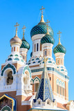 Ditail of Russian Orthodox Cathedral in Nice