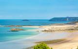 Strand in der Bretagne, Frankreich