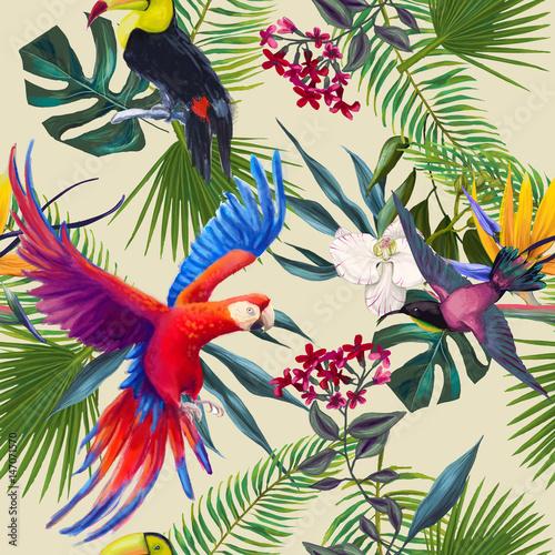 Obraz na Szkle seamless exotic pattern