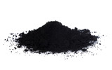 activated charcoal isolated on white background - 147083154